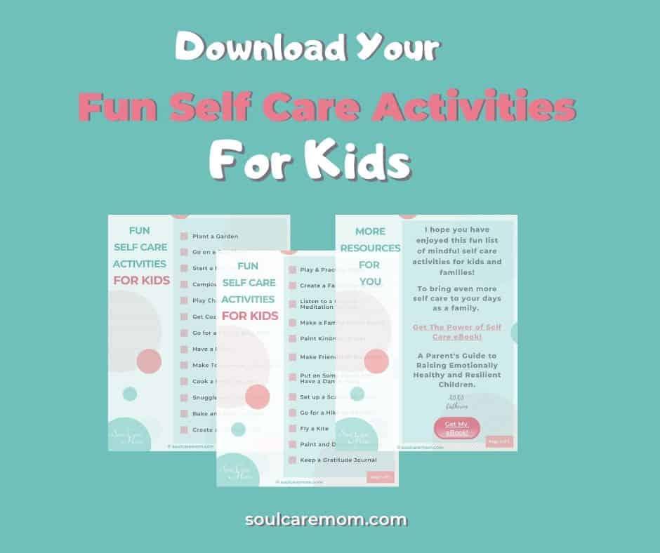 Fun Self Care Activities for Kids Downloadable Printable