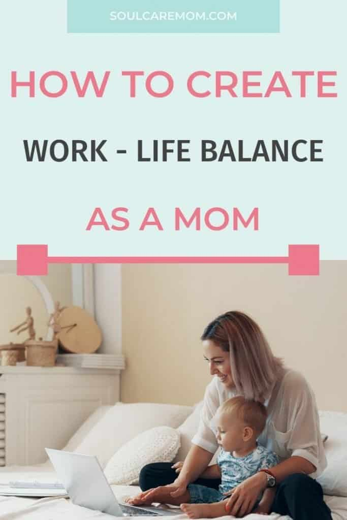 Mom and Baby with Laptop - Work Life Balance for Moms